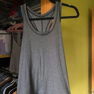 lululemon grey tie back tank top